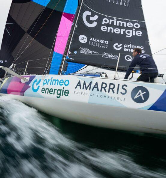 Amarris aux côtés d'Achille Nebout sur la saison Figaro